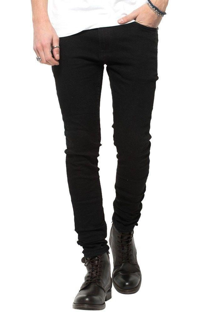 Jeans-tilbud: Basic Slim Fit Jeans + Blue Ripped West Jeans