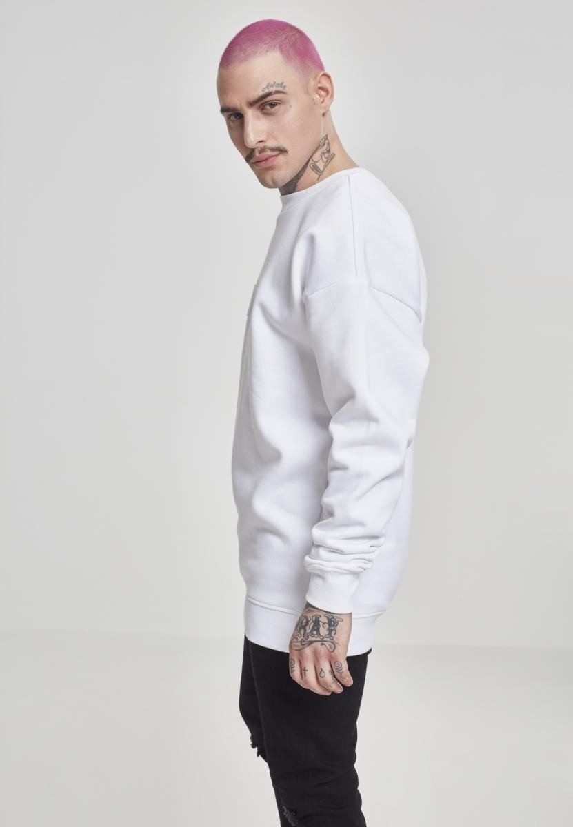 Embossed NASA Worm Crewneck - White