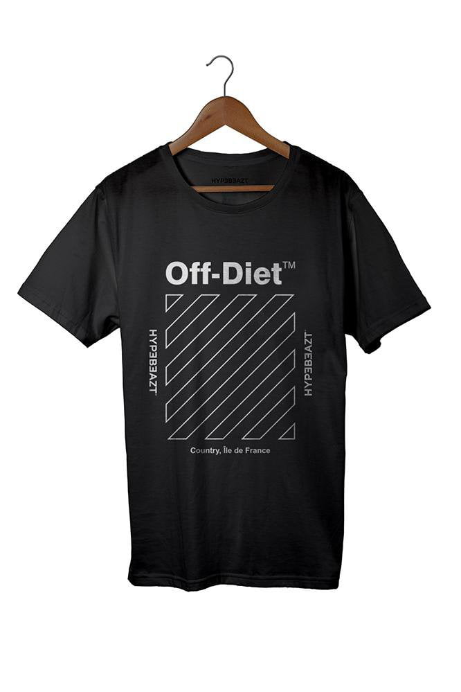 Image of   Off-Diet Longline HypeBeazt T-Shirt Black