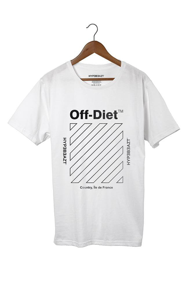 Image of   Off-Diet Longline HypeBeazt T-Shirt White