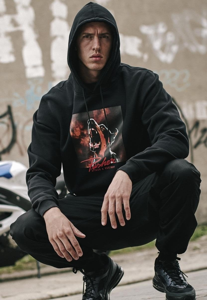 Pusher Dog Hoody - Black