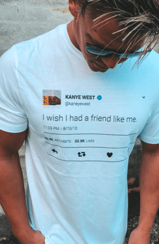 I wish I had a friend like me - white
