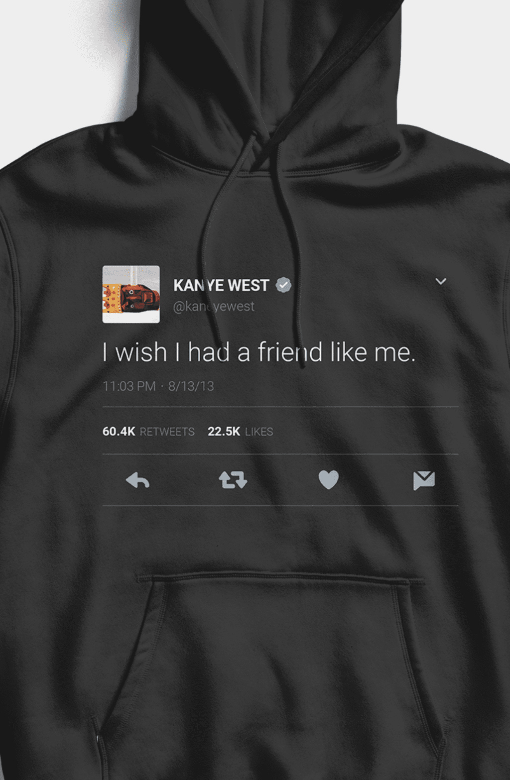 I wish I had a friend like me Hoodie - Black