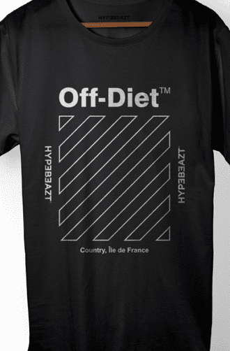 Off-Diet Longline HypeBeazt T-Shirt Black