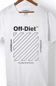 Off-Diet Longline HypeBeazt T-Shirt White