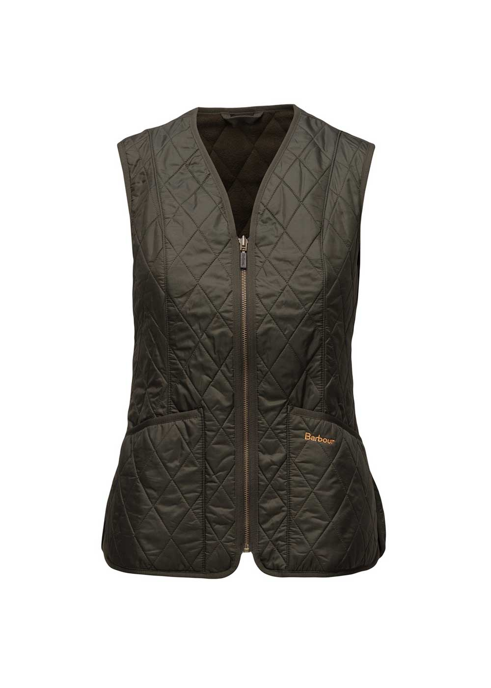 Grøn dame vest med fleece fra Barbour - Fleece Betty Liner