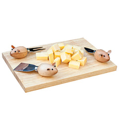 mouse knives cheese board