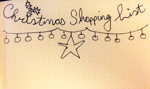 Christmas Shopping List Bullet Journal