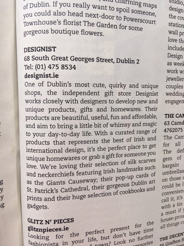 Designist in Hot Press Best of Dublin