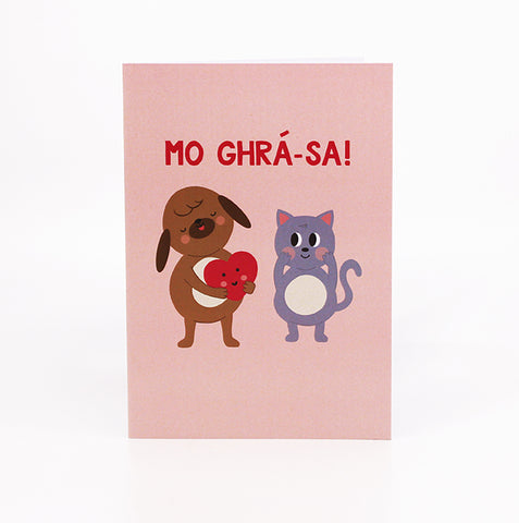 mo ghra sa cute irish language valentines card as gaeilge