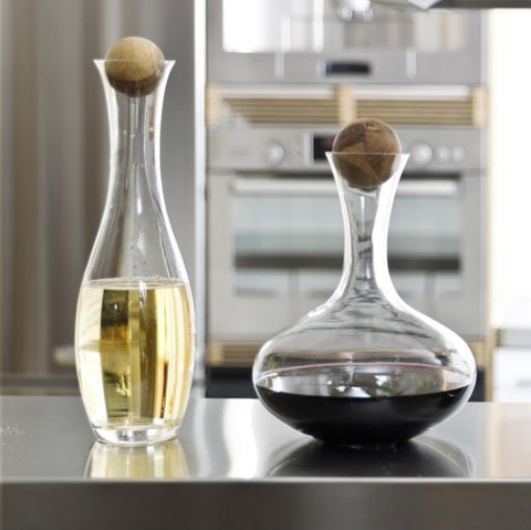 oval oak carafe and decanter wedding gift