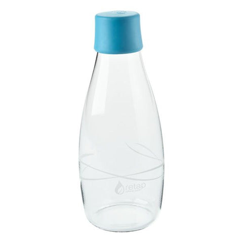 retap carry glass bottle with leak proof lid