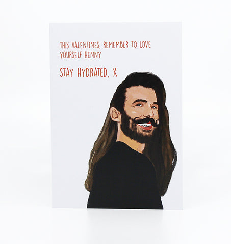 stay hydrated queer eye themed valentines card