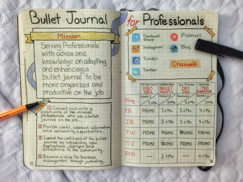 Bullet journal for professionals