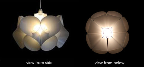 Kaigami origami inspired light shades designist swirl lampshade also made from white polypropylene the nautica evokes the ocean and all its wonderful forms like a wave the energy of its spiralling mozeypictures Image collections