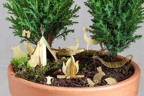 tiny camping for your house plants