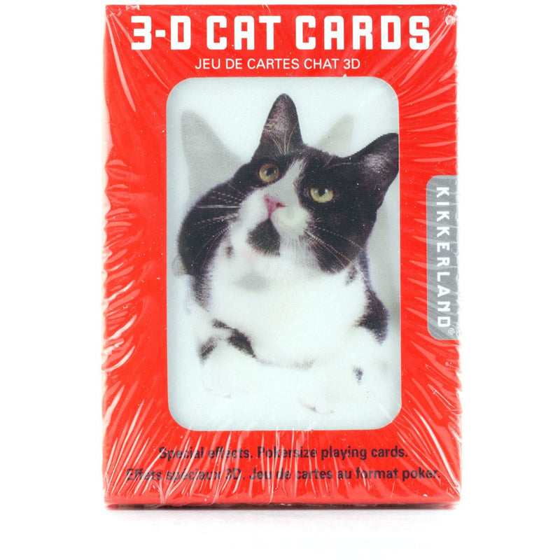 3D Cats Playing Cards