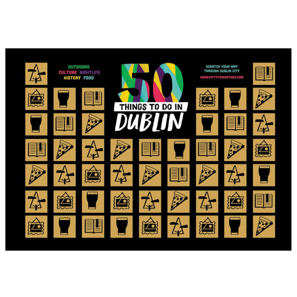 50 Things to Do in Dublin Scratch Poster