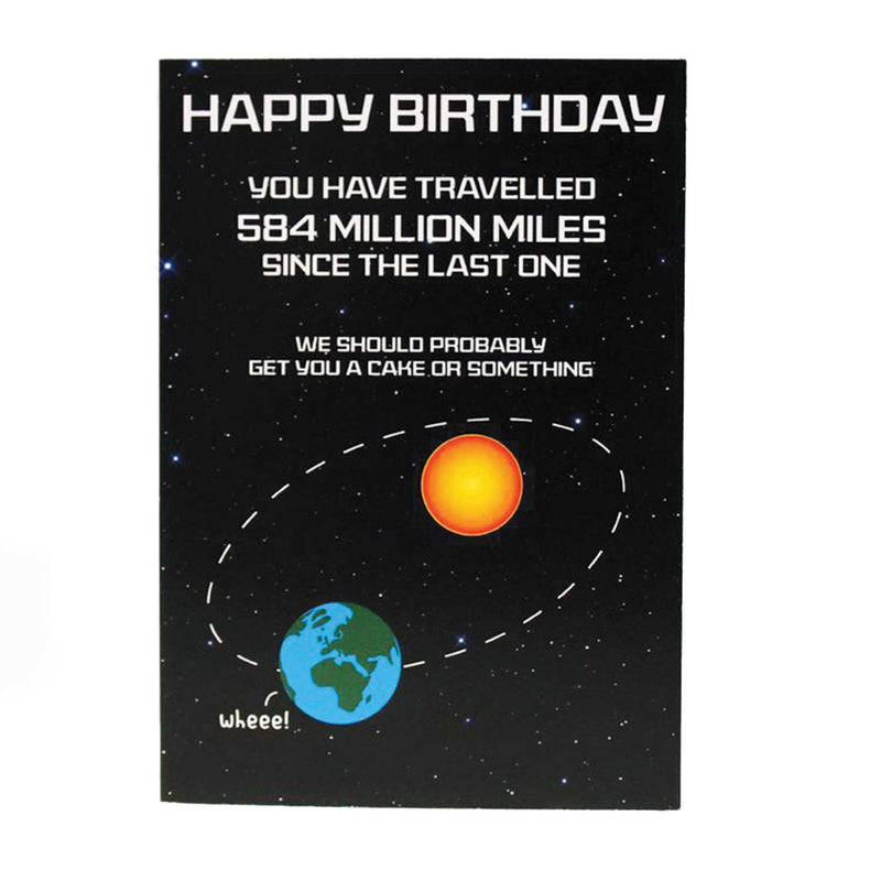 Happy Birthday - You have Travelled 584 Million Miles...