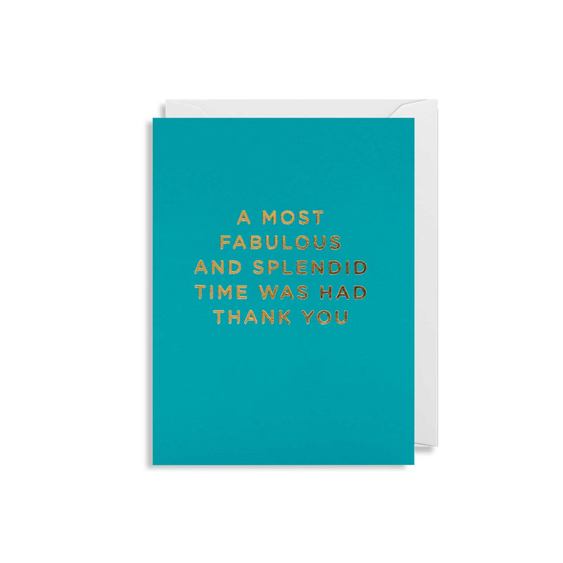 A Most Fabulous and Splendid Time... Mini Card