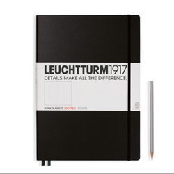 Leuchtturm1917 Black A4+ Notebook Hardback - dotted