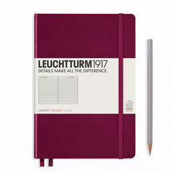 Leuchtturm1917 A5 Hardcover Notebook - Port Red -  Ruled