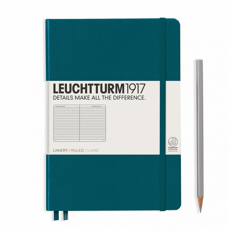 Leuchtturm1917 A5 Hardcover Notebook - Pacific Green - Ruled
