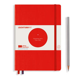 Leuchtturm1917 100 Years Bauhaus A5 Hardcover Notebook - Red