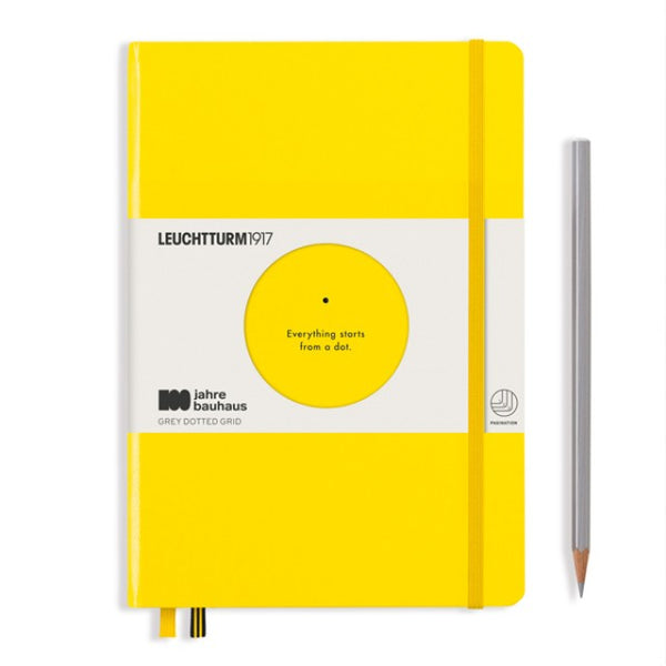 Leuchtturm1917 100 Years Bauhaus A5 Hardcover Notebook - Lemon