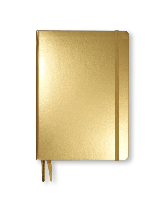 Leuchtturm1917 A5 Hardcover Notebook - Gold - Dotted