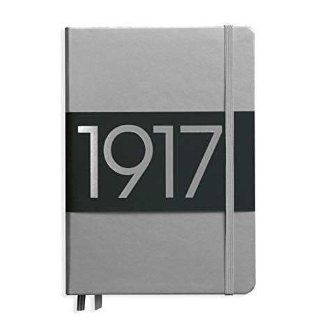 Leuchtturm1917 A5  Hardcover Notebook - Silver - Dotted