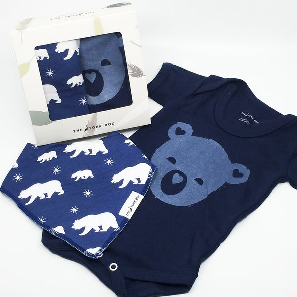 Bear Cub Body Suit & North Pole Bib Set