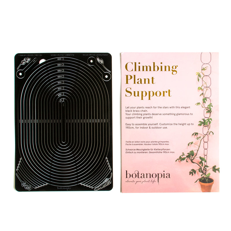 packaging cover and flat packed plant supports side by side
