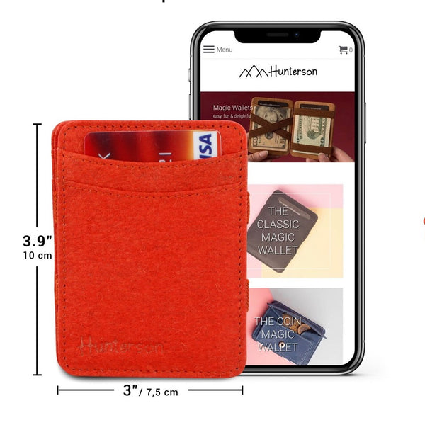 Hunterson Magic Coin Wallet - Vegan Paprika