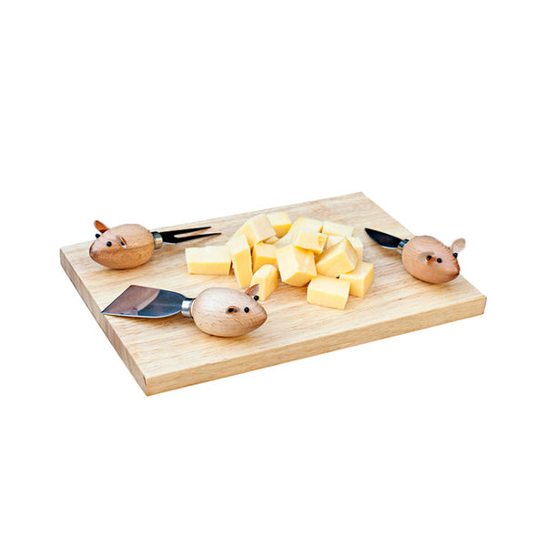 Cheese Board and Mouse Knives