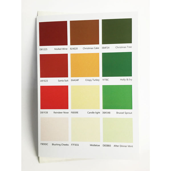 Christmas Colour Swatches - designist