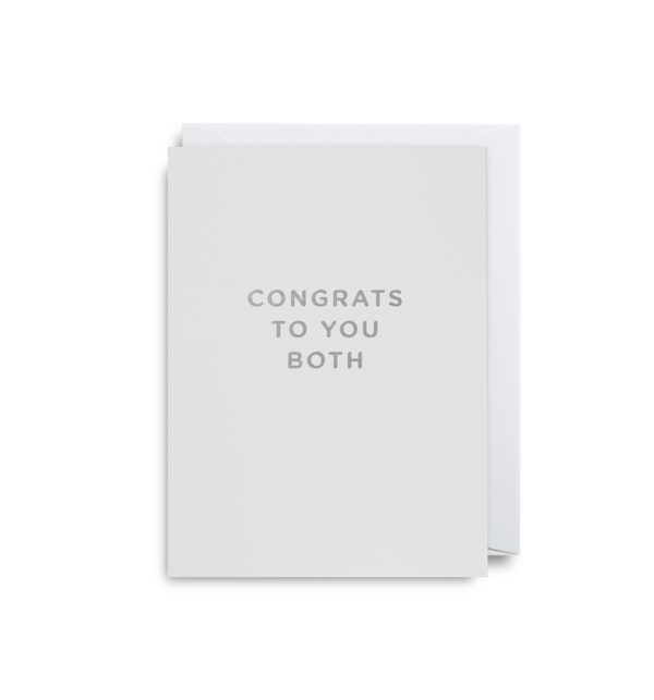 Congrats To You Both: Mini Card