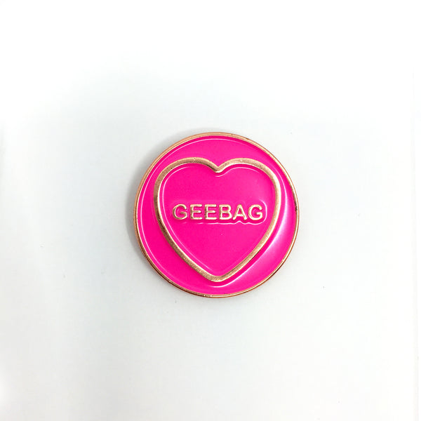 Geebag Enamel Pin