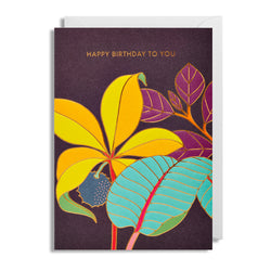 Happy Birthday to You: Flowers with gold lining