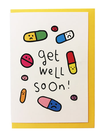 Get well soon! (Pill faces)