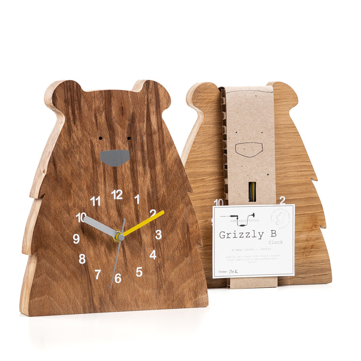 Grizzly Bear Clock by Sam Agus Nessa