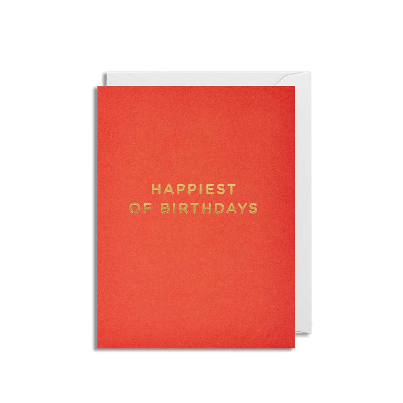 Happiest of birthdays: Red Mini Card