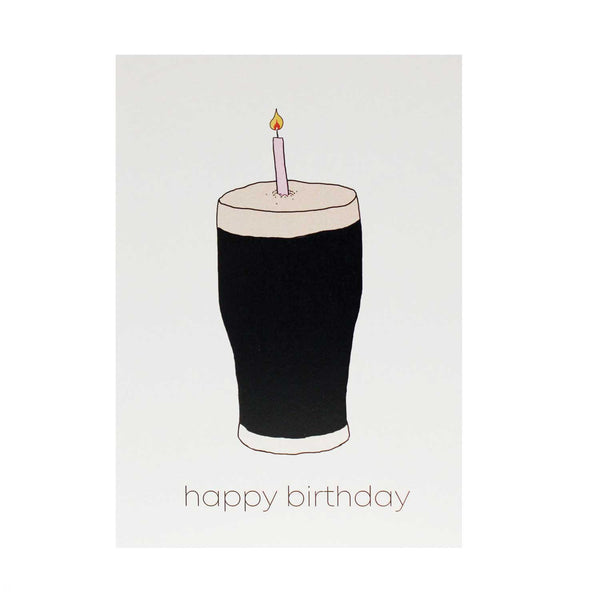 Happy Birthday Pint Candle