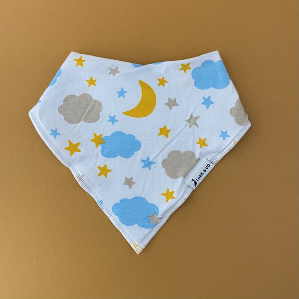 stary night bandana bib by the stork box