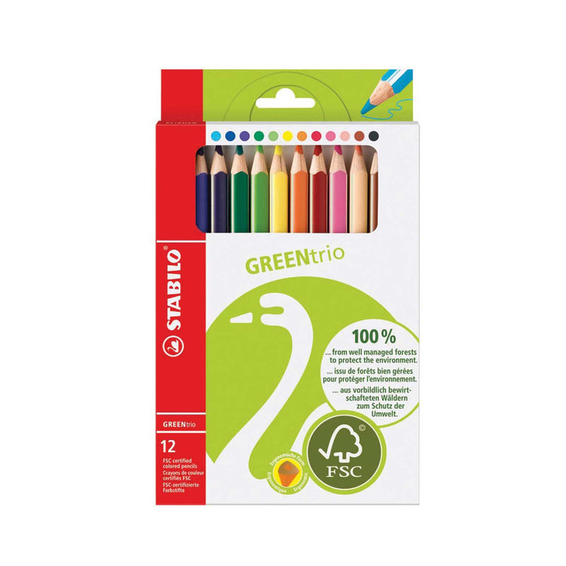 Eco Green Ergonomic Colouring Pencils