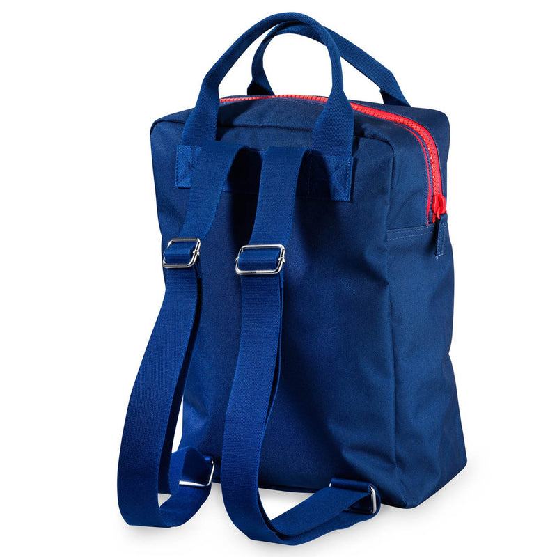 Zipper Backpack Dark Blue