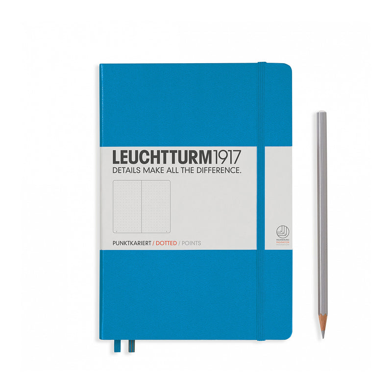 Leuchtturm1917 A5 Hardcover Notebook - Azure - Dotted