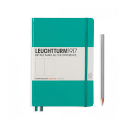 Leuchtturm1917 A5 Hardcover Notebook - Emerald - Dotted
