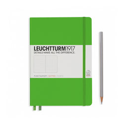 Leuchtturm1917 A5 Hardcover Notebook - Fresh Green - Dotted