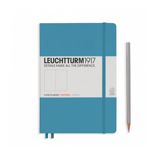 Leuchtturm1917 A5 Hardcover Notebook - Nordic Blue - Dotted